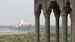Le Taj Mahal et le Fort rouge d'Agra