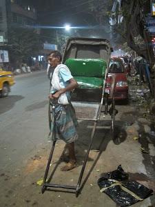 La vie d'un rickshaw-wallah à Kolkata